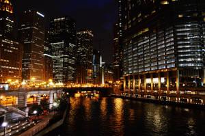 Chicago at night by maerocks