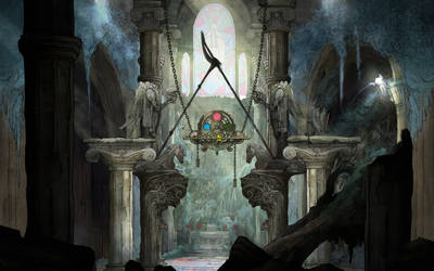 Child of Light Cathedral Wallpaper by Akmos37