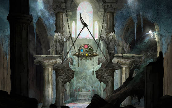 Child of Light Cathedral Wallpaper