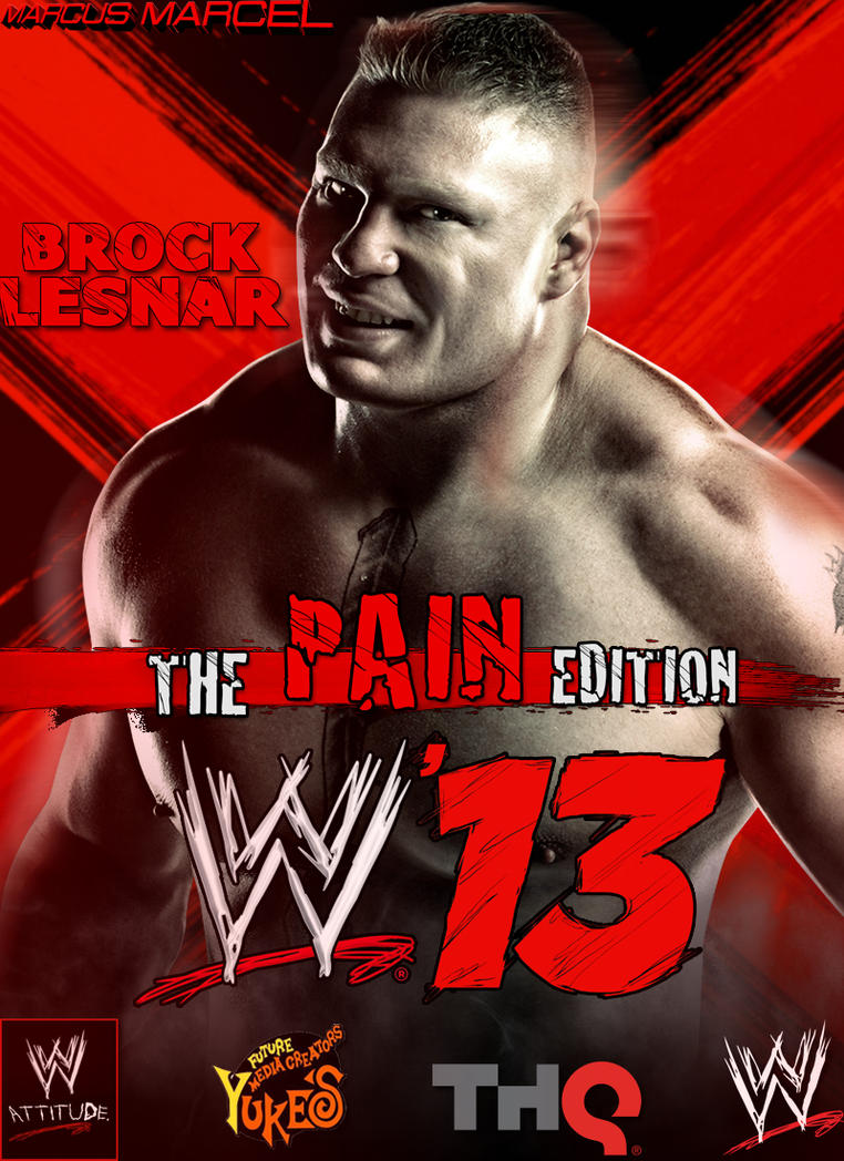 wwe13 the pain edition brock lesnar by marcusmarcel on