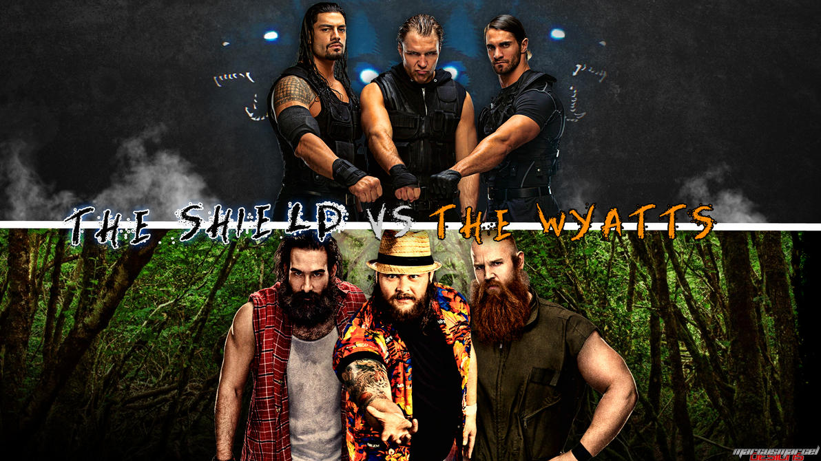 The Shield Vs. The Wyatts Wallpaper By