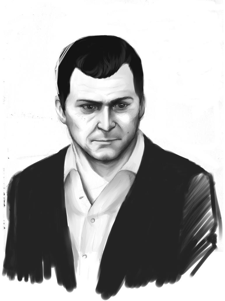 gta 5 michael drawing - photo #28