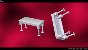 Rounded Table V2 by Fesothe