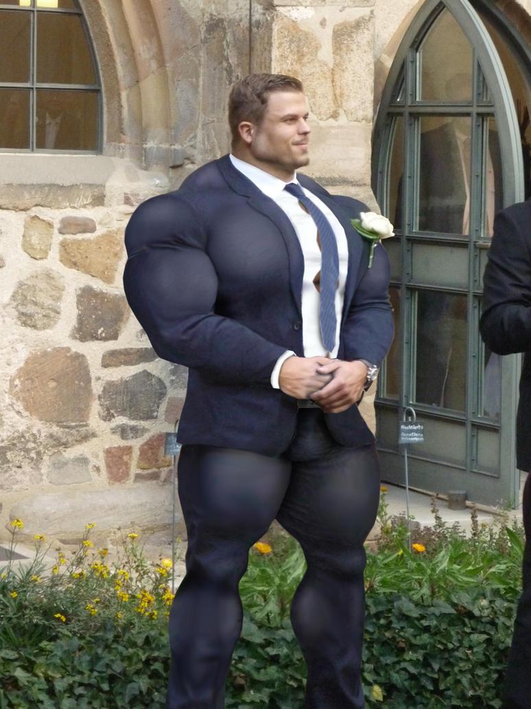 Muscle man wedding