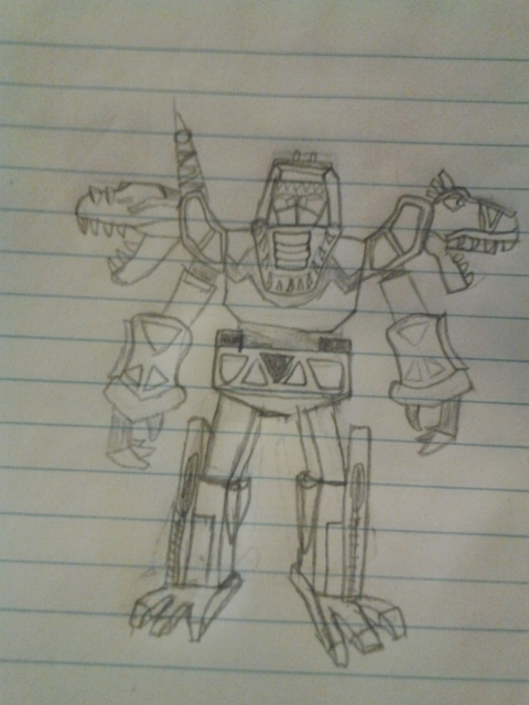 theoretical red t-rex megazord sketch by sideshowOfMadness