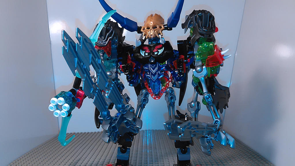 Skull Train Bros Transformer (combined mode) by sideshowOfMadness