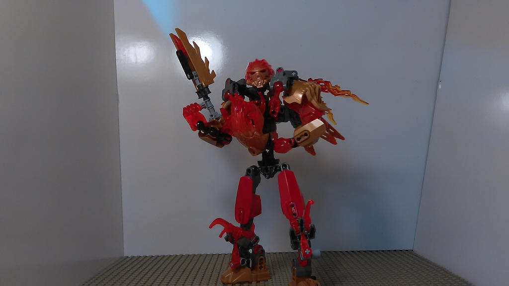 Tahu Combiner of Fire (Toa Mode) by sideshowOfMadness