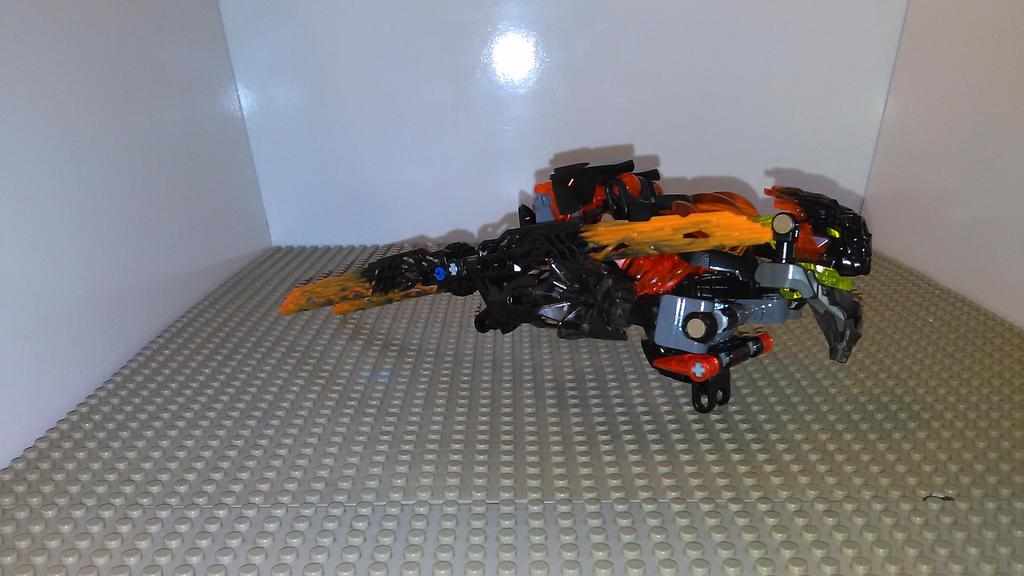 Bionicle Transformer Lava Cutter (Hover car mode) by sideshowOfMadness