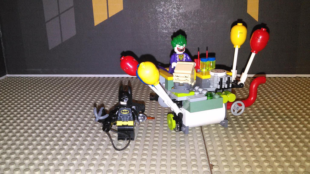 The Joker Blimp [the batman movie MOC] by sideshowOfMadness