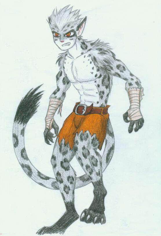 Anthro snow leopard male - photo#5