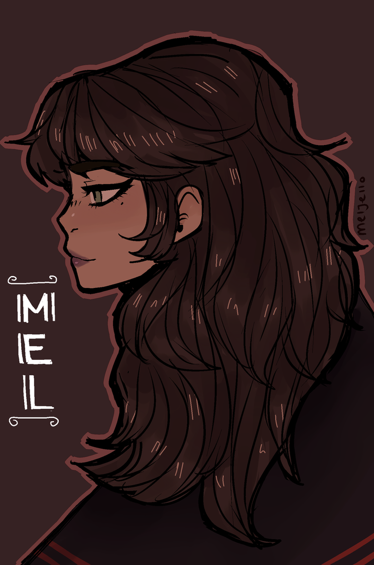 mel looks pretty great in red by KiyaAyraLuna
