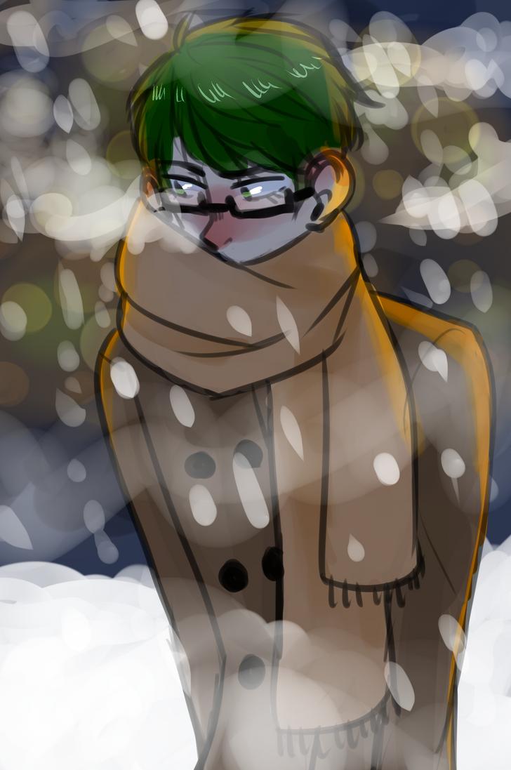 [knb] midorima + wintertime by KiyaAyraLuna