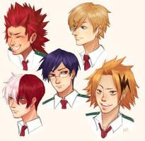 [boku no hero academia] bunch of busts! by KiyaAyraLuna