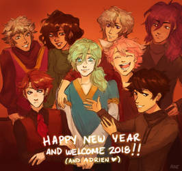 [original] a happy new year w/ my ocs by KiyaAyraLuna