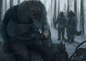 Hunters' Coffee Break by Julkkuli