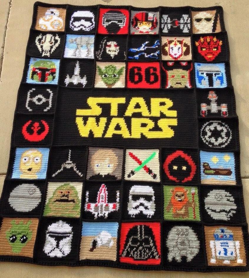 Star wars crochet blanket afghan graphghan by josephineroeper on star wars crochet blanket afghan graphghan by josephineroeper publicscrutiny Gallery