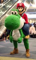 Yoshi and Mario