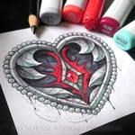 Iron Heart Tattoo Design by Kalypsa-Tattoo