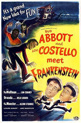 Faux Abbott And Costello Meet Frankenstein Poster.
