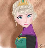 Elsa, Queen of Arendelle by xRainsxKissx