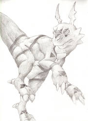 Anthro-Like Guilmon by shadowkyle89