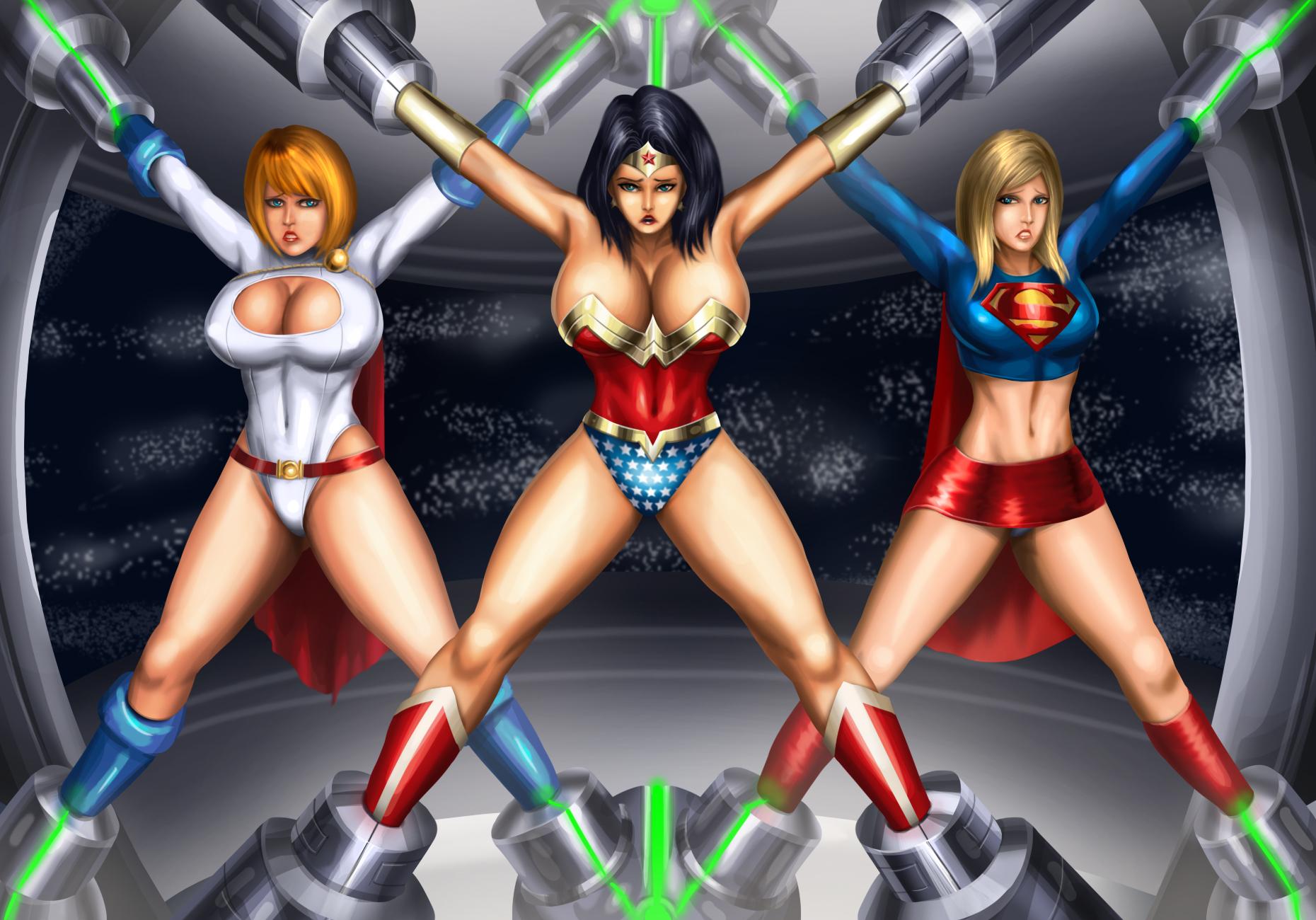 Female Superhero Hentai with regard to dc trifectasvoidist on deviantart