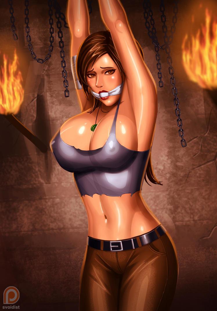 Amusing Lara croft bondage