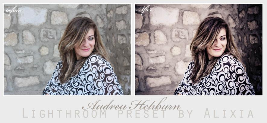 AudreyHepburn lightroom preset by alixia88