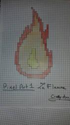 [Pixel art] La flamme! etape finale by CrazychanAreea