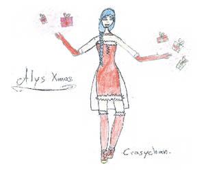[Vocaloid] Alys Xmas Fanart 1 by CrazychanAreea