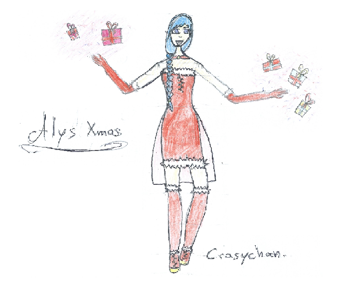 [Vocaloid] Alys Xmas Fanart 1 by CrazychanAreea