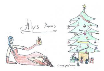 [Vocaloid] Alys Xmas Fanart 2 by CrazychanAreea