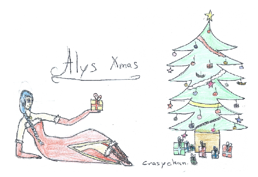 [Vocaloid] Alys Xmas Fanart 2 by CrazychanAreea