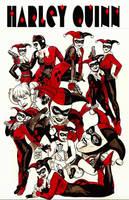 Harley Quinn again and again by MalevolentNate
