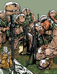 SOLDIERS PRAY FOR THE FALLEN