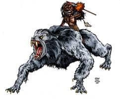 ZUNI RIDES THE WEREWOLF by MalevolentNate