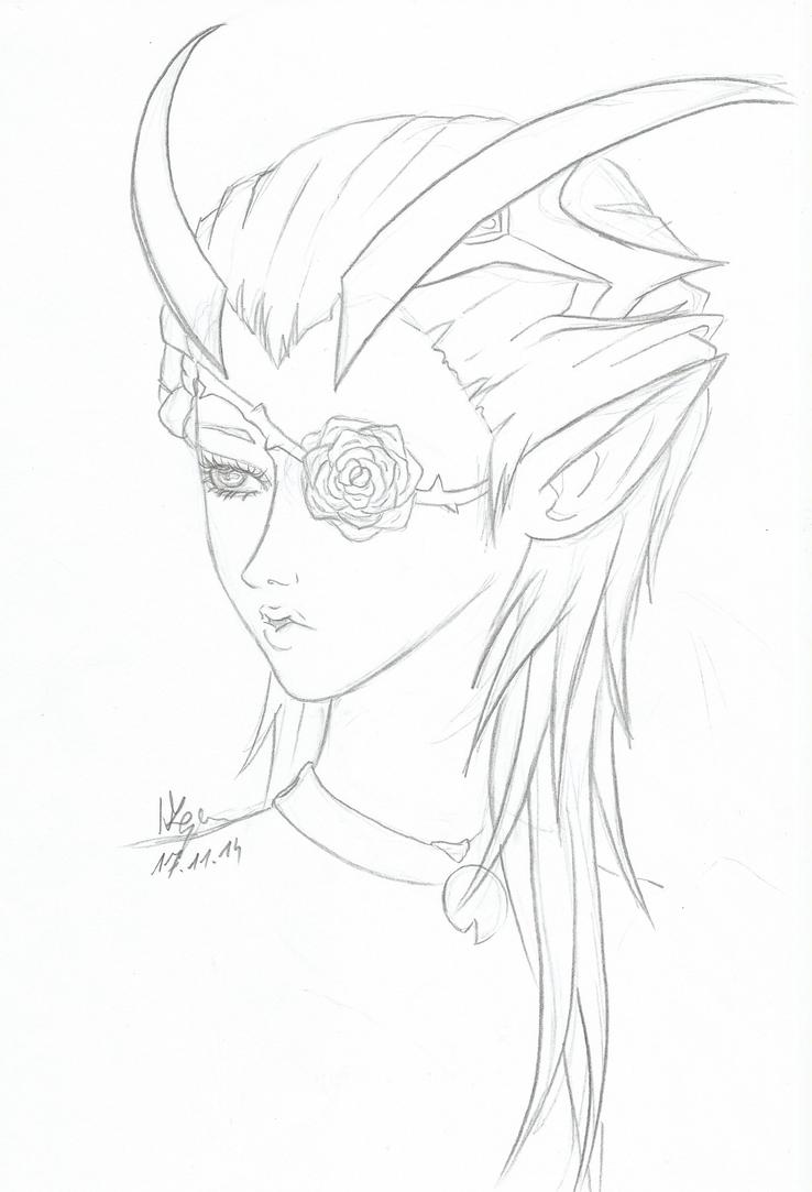 Castanic Sprcerer Kathala by keyko020988
