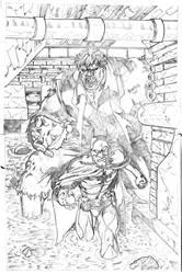 Batman and Grundy by qiunzo