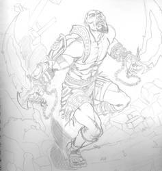 Kratos Sketch by qiunzo