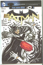 Batman Sketch cover by qiunzo