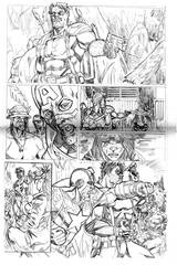 Captain America and comedian sample pg 1 by qiunzo