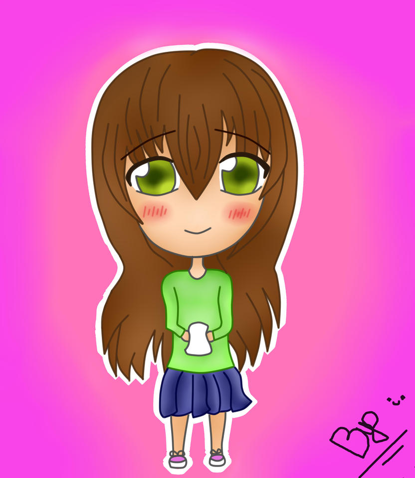 Happy Chibi Girl By Byo ^^ by Byodix on DeviantArt