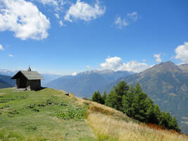 Chapel on top of the mountains by Simbores