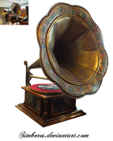 Antique gramophone by Simbores