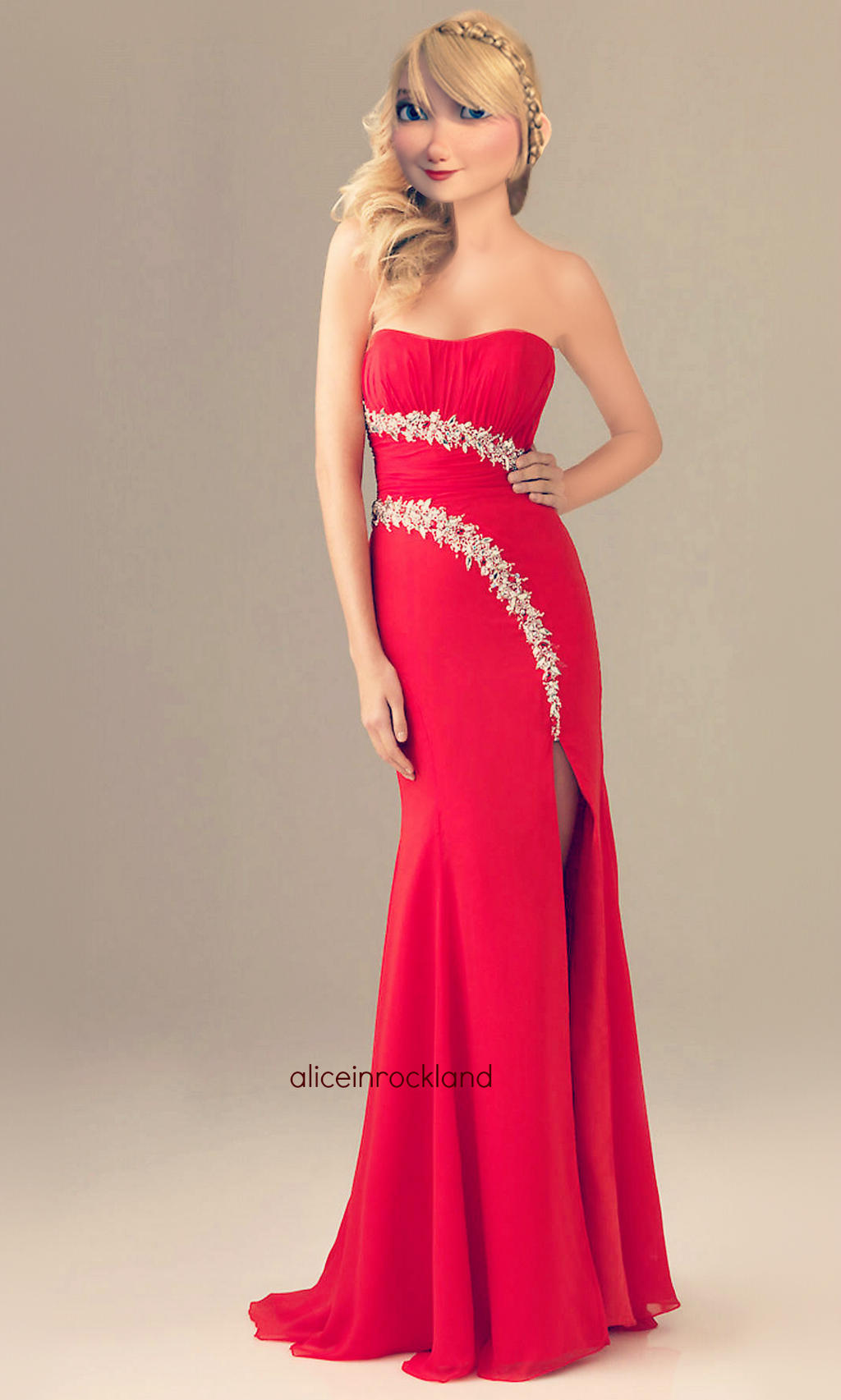 Astrid hofferson red dress by aliceinrockland on deviantart