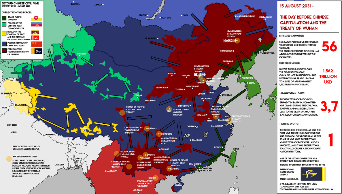 chinese civil war In 1927, government officials in china (then the republic of china) began to faction due to disputes over the country's direction the split occurred at an ideological level, primarily between nationalism from the kuomintang party (kmt) and socialism from the chinese communist party (ccp).