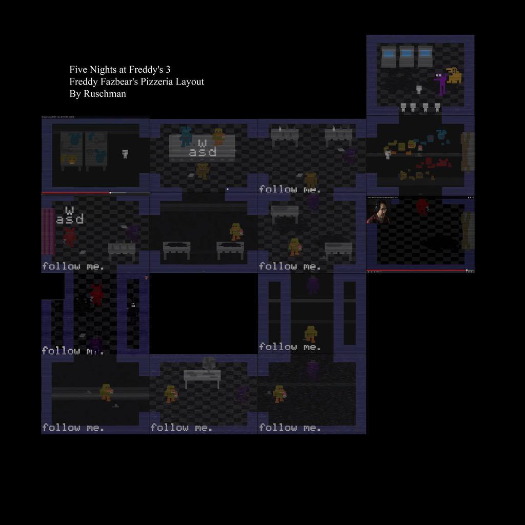 Freddy fazbear s pizzeria layout by ruschman on deviantart