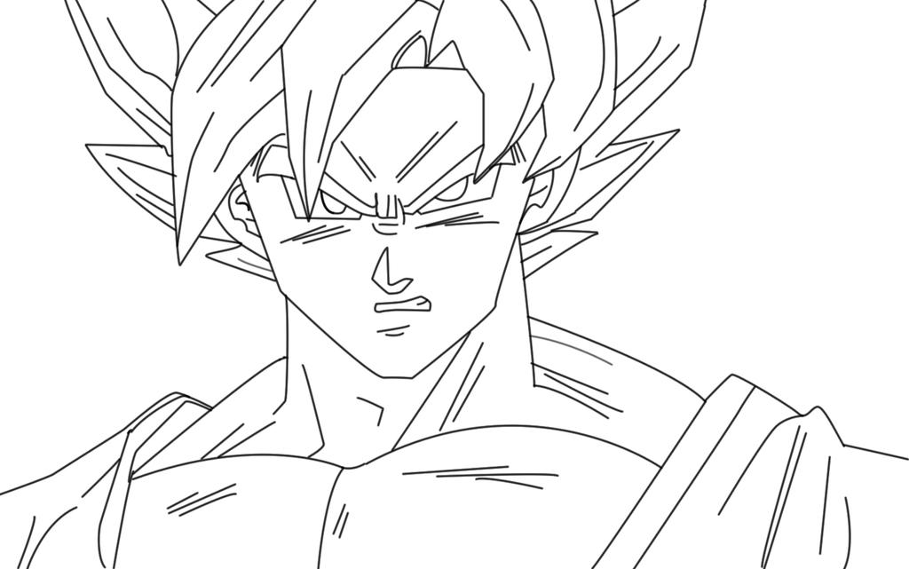 Line Art God Images : Goku ssj god line art by icyryujin on deviantart