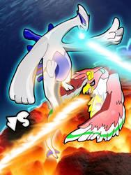 Lugia vs Ho-oh by Icyryujin