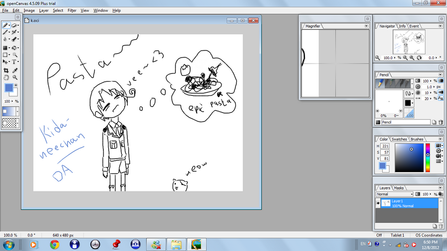 Drawing Lines Using Canvas : Fisrt drawing using open canvas by kida neechan on deviantart